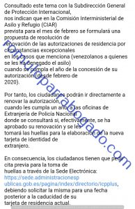 renovación razones humanitarias venezolanos España